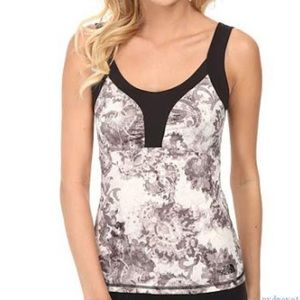 NWT The North Face Echo Lake Tank, Black Print, M